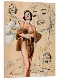 Holzbild  Glamour Pin Up-Studie - Al Buell