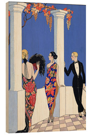 Holzbild  The Taste of Shawls, 1922 - Georges Barbier