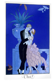 Acrylglasbild  Yes! 1921 - Georges Barbier