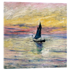 Acrylglasbild  Segelboot am Abend - Claude Monet