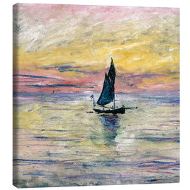 Leinwandbild  Segelboot am Abend - Claude Monet
