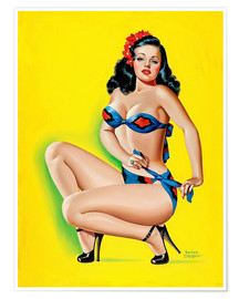 Premium-Poster Pin Up in einem Bikini
