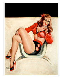 Premium-Poster Pin Up - Die Ruhige