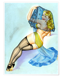 Premium-Poster Pin Up - Der Schleier