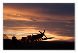 Poster  Spitfire Rest Easy - airpowerart