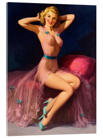 Acrylglasbild  Pin Up in Pink - Art Frahm