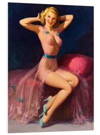 Hartschaumbild  Pin Up in Pink - Art Frahm