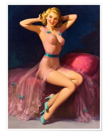 Premium-Poster Pin Up in Pink