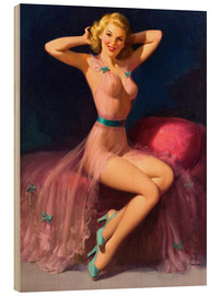 Holzbild  Pin Up in Pink - Art Frahm
