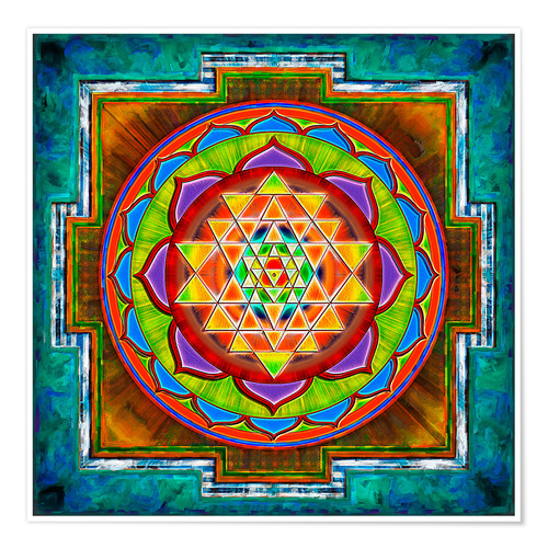 Premium-Poster Intuition Sri Yantra - Artwork II