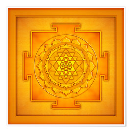 Poster  Golden Sri Yantra - Artwork II - Dirk Czarnota