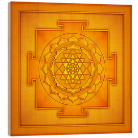 Holzbild  Golden Sri Yantra - Artwork II - Dirk Czarnota