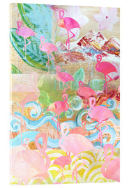 Acrylglasbild  Flamingo Collage - GreenNest