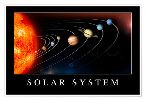 Premium-Poster Motivationsposter: Solar system
