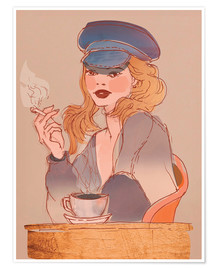 Premium-Poster Coffee and Cigarettes