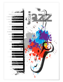 Premium-Poster  Jazz-Noten - colosseum
