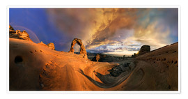 Poster Delicate Arch Sonnenuntergang