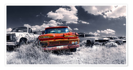 Poster Route 66 - Autofriedhof
