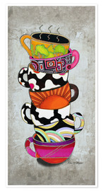 Premium-Poster Stacked Hot Cuppa Collection 1
