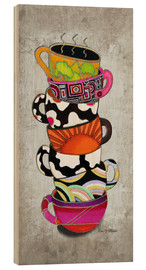 Holzbild  Stacked Hot Cuppa Collection 1 - Megan Duncanson