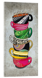 Acrylglasbild  Stacked Hot Cuppa Collection 2 - Megan Duncanson