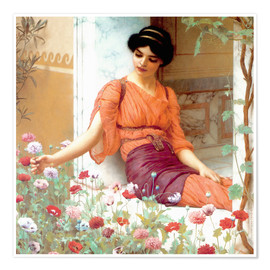 Poster  Sommerblumen - John William Godward