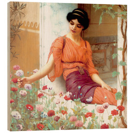 Holzbild  Sommerblumen - John William Godward