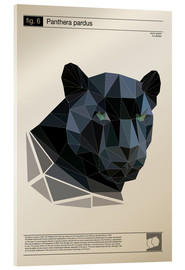 Acrylglas  fig6 Polygonpanther Poster - Labelizer