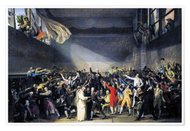 Premium-Poster  Ballhausschwur  - Jacques-Louis David