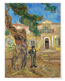 Poster  St. Paul Hospital in Saint Rémy de Provence - Vincent van Gogh