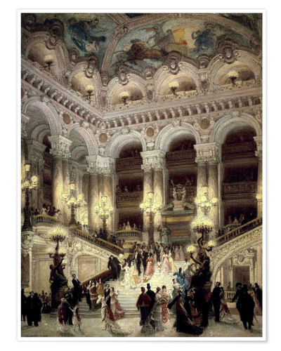 Poster Treppen der Oper in Paris
