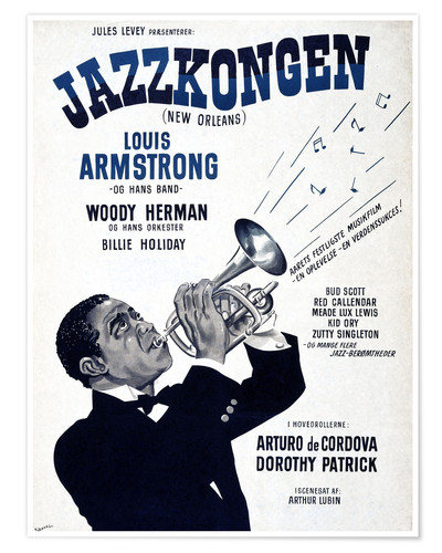 Premium-Poster Louis Armstrong in New Orleans