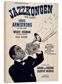 Holzbild  Louis Armstrong in New Orleans