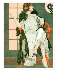 Premium-Poster  Dame schreibend - Clarence Coles Phillips