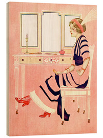 Holzbild  fit and fine valentine - Clarence Coles Phillips