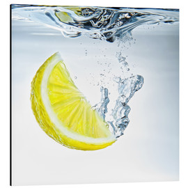Alu-Dibond  lemon splash - Silvio Schoisswohl