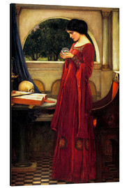 Alu-Dibond  Die Kristallkugel - John William Waterhouse