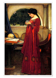 Premium-Poster  Die Kristallkugel - John William Waterhouse