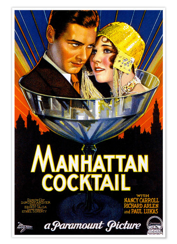 Premium-Poster Manhattan Cocktail