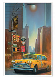 Poster  Yellow Cab - Georg Huber
