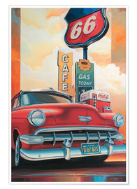 Poster  Route 66 Cafe - Georg Huber