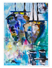 Poster  bunte Boote - Diana Linsse