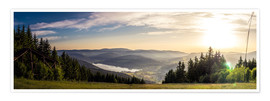 Premium-Poster Sonnenuntergang am Titisee