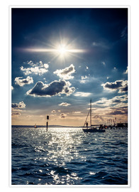 Premium-Poster Sommertag am Bodensee