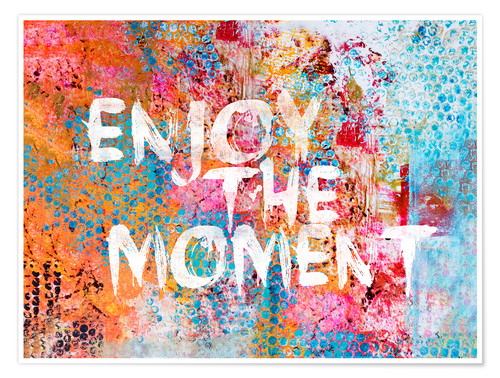 Premium-Poster Enjoy the moment