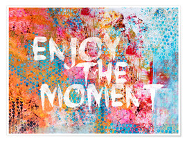 Poster  Enjoy the moment - Andrea Haase
