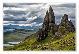 Premium-Poster Old Man of Storr, Isle of Skye, Schottland