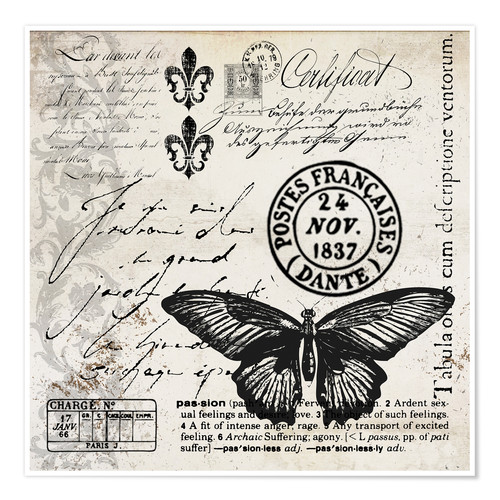 Premium-Poster Vintage Butterfly