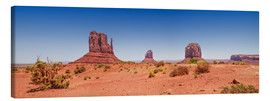 Leinwandbild  Monument Valley USA Panorama I - Melanie Viola
