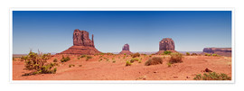 Premium-Poster  Monument Valley USA Panorama I - Melanie Viola